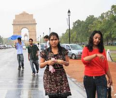 Delhi receives its first monsoon showers