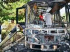 militants kill 14 and leave 23 injured after bomb attacks on women's university bus and hospital